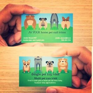 At YOUR own home pet nail trims