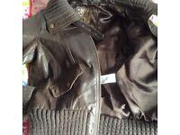 Ladies bomber leather jacket size 12