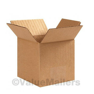 100 7x7x4 Cardboard Shipping Boxes Cartons Packing Moving Mailing Box