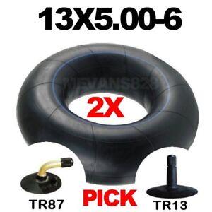 2X 13x5.00-6 Inner Tubes. Bent Or Straight Valve. 13x500-6 Tube For Mower & Quad