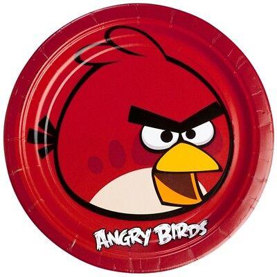 Angry Birds Partyteller im 8er Pack, 23cm, mit dem Hauptcharakter (Angry Birds Teller)