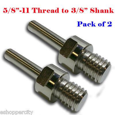 2x Core Drill Bit Adapter 58-11 Unc Thread Male 38 Shank Concrete Drill