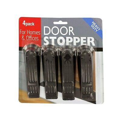 4 Pack Plastic Heavy Duty Door Stops Stoppers