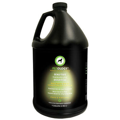 Therapeutic Natural Shampoo (Sensitive Therapeutic Pet Shampoo Natural Gentle Formula Odor Eliminator Gallon )