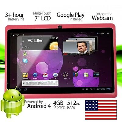 "Pink 7"" Android 4.1 Tablet PC 4GB Wifi Google Touch Screen Computer Netbook NEW on Rummage"