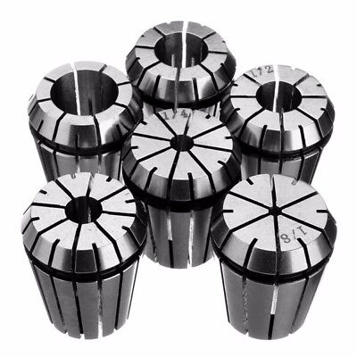 6pcs Er32 Spring Collet Set 18 Inch To 34 Inch Chuck Collet For Cnc Milling