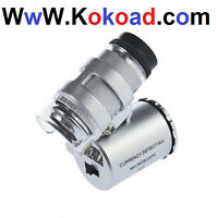 Silver 60X Zoom LED Light Magnificent Microscope Magnifies Micro