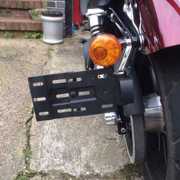 Harley Davidson Side Mount Number License Plate For Dyna