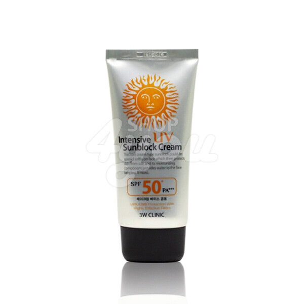 3w Clinic Intensive Uv Sunblock Cream 70ml Spf50 Pa Free Sample
