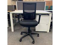 Boss Design Dot Mesh Office Chair, Fully Adjustable, Black