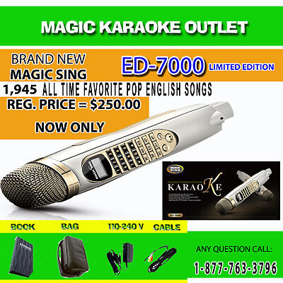 MAGIC SING KARAOKE MIC ED-7000 WITH FM MODULE 1,945 SONGS