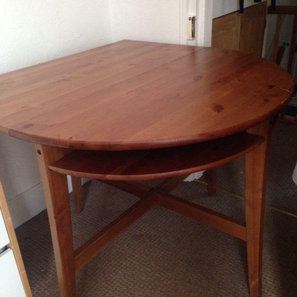 Drop leaf dining table solid wood ikea in hassocks for Ikea drop leaf dining table