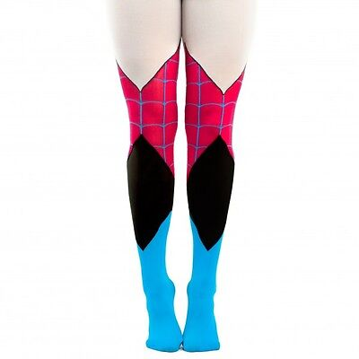 Marvel Comics Spider Gwen 1 Pair Tights One Size Fits Most Costume Cosplay Pink](Spider Tights)