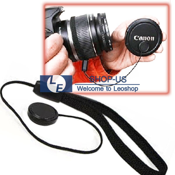 Lens Cover Cap Holder Keeper String Leash Strap Rope For Canon Nikon Sony Camera