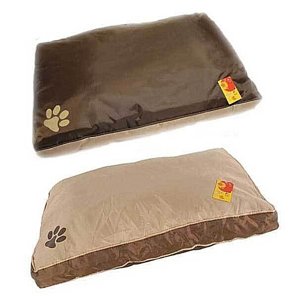 Hundekissen Hundebett Hundesofa Hunde Katzen Tier Bett Katzenkissen KatzenbettKissen Größe: M:50cm / L:75cm   Farbe: Beige / Braun