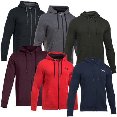 Fleece Zip Hoodie Jacke (Under Armour Rival Fleece Fitted Full Zip Hoodie Herren Kapuzen Jacke 1302290)