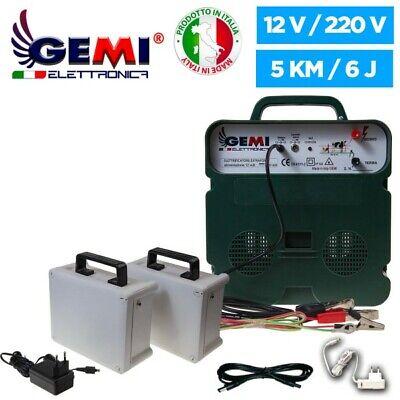 Electrificador Valla Eléctrica 5Km+ 2 Baterías Recargables alimentación 12V/220V