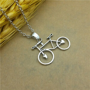 Bicycle necklace ebay hot fashionable glamour jewelry bicycle collarbone pendant necklace aloadofball Gallery