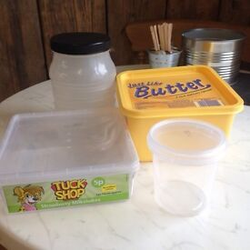 **FREE** Plastic tubs with lids