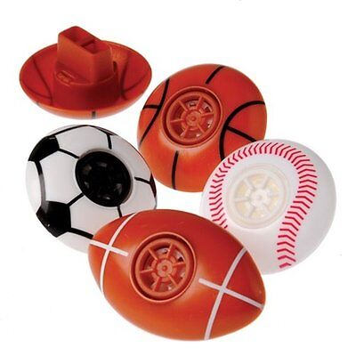 12  Sports Whistle Party Favors Team Sport Basketball Soccer Football Baseball](Soccer Party Favors)
