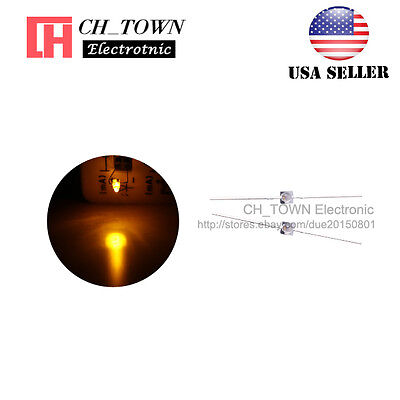 50pcs 1.5mm LED Diodes Transparent Water Clear Yellow Light Mini High Quality