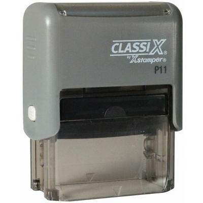 Classix P11 Custom Return Address Stamp 3 Line Self-inking Ideal 50 Or 4911