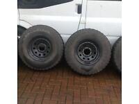 Mitsubishi shogun/pajero/l200 modulars with tyres