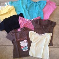Lot 9 Tee shirts fille 5 ans