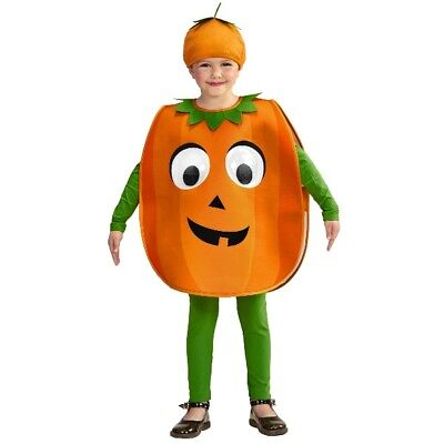 KÜRBIS mit RIESENAUGEN Kinder Kostüm 2tlg. Kleinkind Pumpkin 1-5 Jahre  #484 (Grüne Riesen Kostüme)