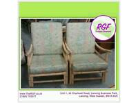 SALE NOW ON!! Pair of Conservatory Chairs For Re-upholstery Project - Can Deliver For £19