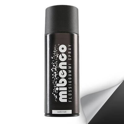 Mibenco Flüssiggummi weiss / weiß matt 400 ml Sprühfolie wieder abziehbar