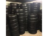 Part worn tyres ready for export
