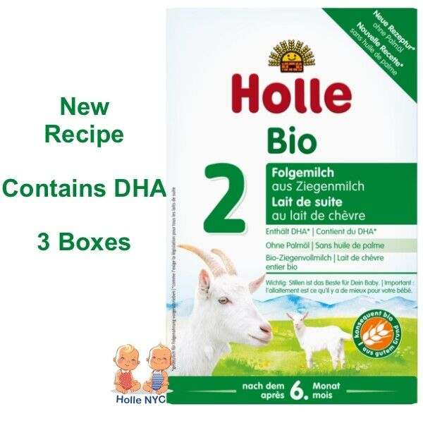 Holle Goat Milk Stage 2 Organic Formula with DHA 3 Boxes 400g Free Shipping