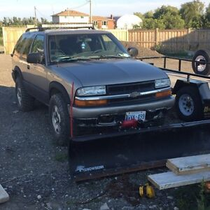 Chevy blazer with Plow
