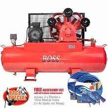 BOSS 52CFM/ 10HP Air Compressor on 300L Tank (3 Phase) Browns Plains Logan Area Preview