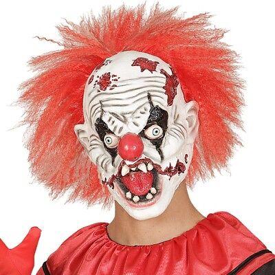 Böser Horror Clown Maske Clownmaske Latexmaske Halloween Killer Clown 1018