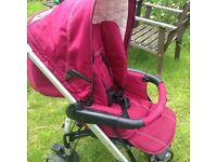 Huck baby weaver pushchair with car seat