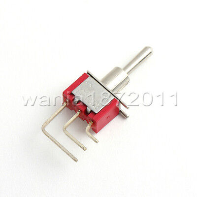 5 Mini Toggle Switch Right Angle Spdt 2 Positions On-on Silver Alloy Contact