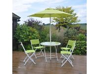 6 Piece Green Table & Chair Garden Patio Furniture Set (New and Boxed)
