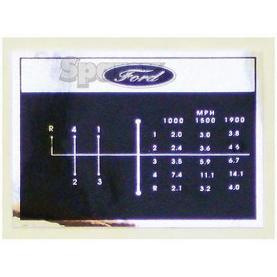 Ford Tractor Shift Pattern Decal 4-speed 2000 3000