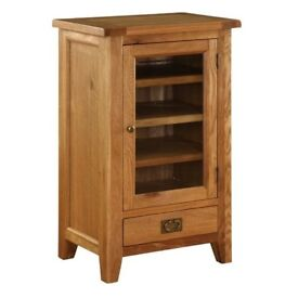 Vancouver Oak Stacking Hi Fi Cabinet VXE001 . New