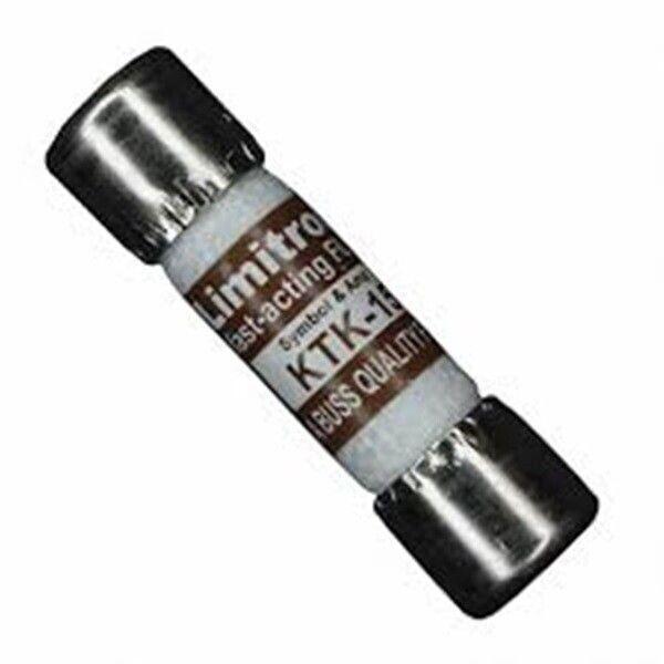 Bussmann KTK-15 15 Amp Limitron Fast Acting Supplementary Fuse Melamine Tube, 60