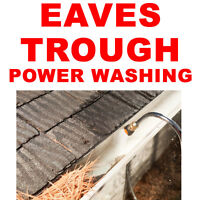 EAVESTROUGH AND GUTTER CLEANING SERVICE