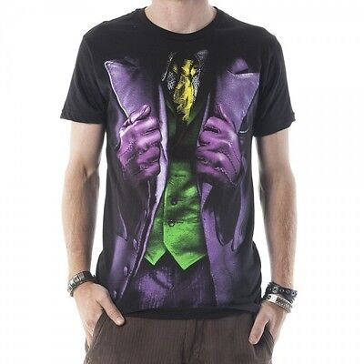 Authentic Dark Knight Joker Costume (AUTHENTIC BATMAN JOKER DARK KNIGHT COSTUME DC COMICS MOVIE T SHIRT S M L XL)