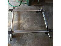 Thule roof rack with 2 bike brackets