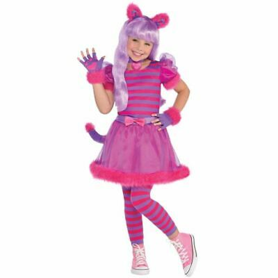 Girls Cheshire cat costume kids school book week fancy dress party alice outfit