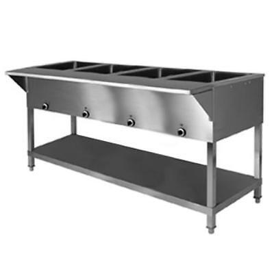 Klingers All Stainless Steel 4 Well Electric Steam Table Wetdry Kti Sw-4h-208