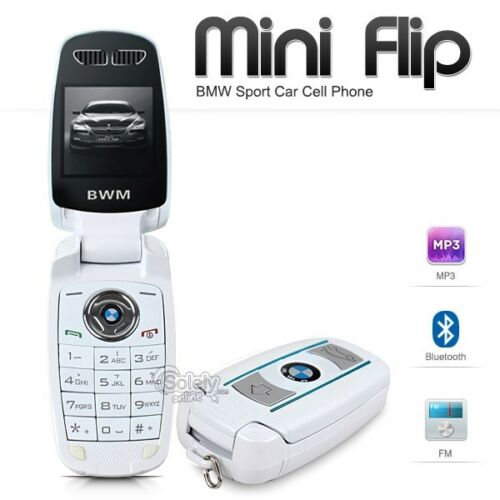 Unlocked Bmw Mini Flip Compact Car Key Gsm Bluetooth Whit...