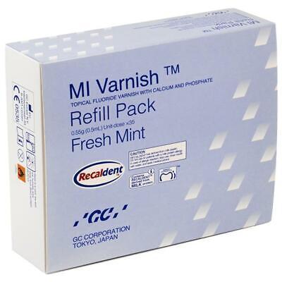 Gc 900748 Mi Topical Fluoride Varnish Fresh Mint .40 Ml Unit Doses 35pk