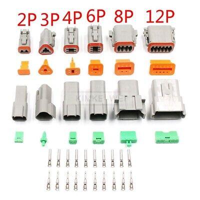 Deutsch Dt0604 2346812 Pin Way Sealed Waterproof Electrical Connector Plug